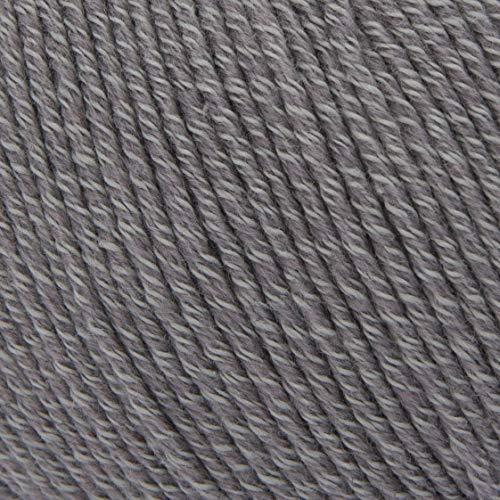 ggh Volante - 009 - Grau - Merino/Baumwolle Mischung - fine - 50g Knäuel - 130m - Nadel 3,5-4,5 - Stricken, häkeln - Grau Baumwolle Mischung