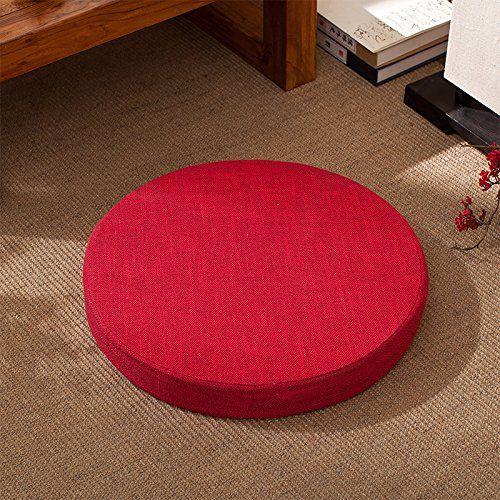 WDZA Le Coussin De Chaise Simple Office Étudiants Classe Pique-Nique Jardin Assise, 50X6Cm, Rouge