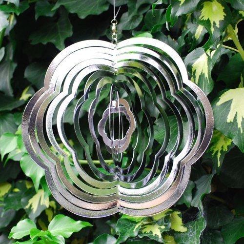 Hübschen Blumenförmige Wind Spinner, Garten Deko aus poliertes Stahl (Drucken Spinner)