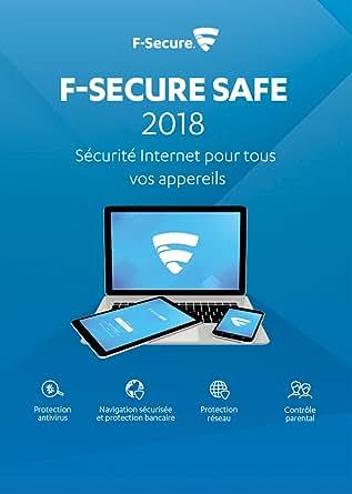 F-Secure SAFE Sécurité Internet 2018 - 1 an / 3 appareils - toutes les plateformes [Code Jeu ]
