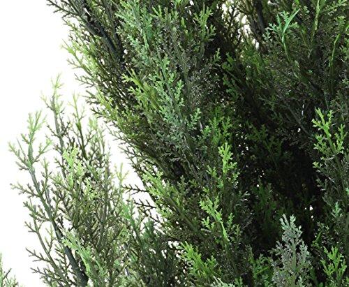 Zypresse künstlich, mit Zementfuß, 140cm hoch – Kunstpflanze – Kunstbäume