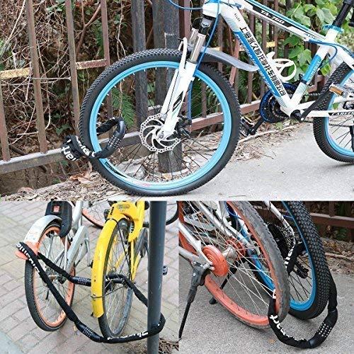 Fahrradschloss, Blusmart Zahlenschloss mit Stahlkettenglieder 7mm x 900mm Kettenschloss mit Zahlenkombination für Fahrrad und Motorrad, 860g - 8