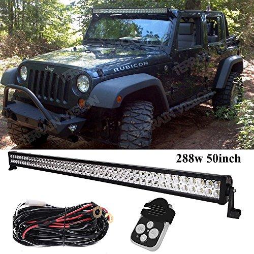 Preisvergleich Produktbild Outdoor-120W-LED-Lichtleiste, Flutlicht-/, Verkabelungsset für Offroad für JK TJ-Truck, ATV, SxS 4x H1, Silverado F150-