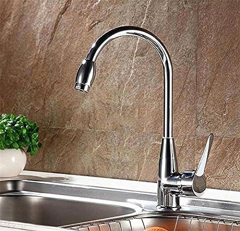L'eau chaude et froide Robinet mélangeur Lavabo Cuisine Salle de Bain lavabo robinet BBHYY chromé