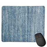 Mouse Pad Jeans Fabric Thread Art Rectangle Rubber Mousepad 8.66 X 7.09 Inch Gaming Mouse Pad with Black Lock Edge