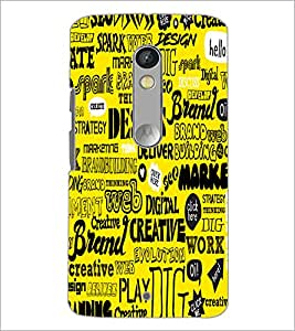 Printdhaba Typography D-5504 Back Case Cover For Motorola Moto X Play