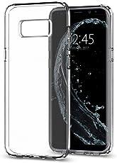 Spigen [Liquid Crystal] Samsung Galaxy S8 Hülle (565CS21612) Transparent Silikon Handyhülle Passgenau Durchsichtige Schutzhülle Case (Crystal Clear)
