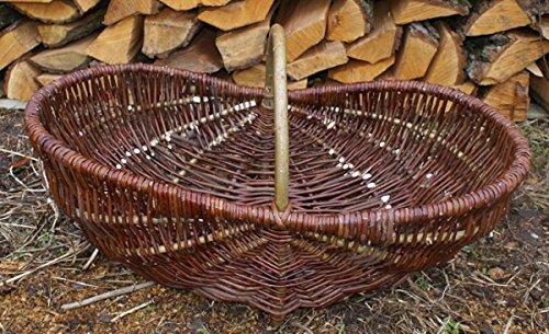 Traubenkorb Obstkorb Korb Erntekorb Handgemacht Weide (OKW 012)