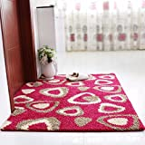 Felpudo de puerta Puerta alfombrilla de pie en la puerta de entrada del hogar alfombras antideslizantes tierra mat mat ,80*100, colorido formato triangular