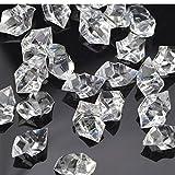 KAKOO 120 Stück Dekosteine Acryl Kristall Streudeko Edelsteine Transparent Diamanten Eis Steine für Tisch Streuung Vase Füller Hochzeit Geburtstag Weihnachten Tischdeko 25mm
