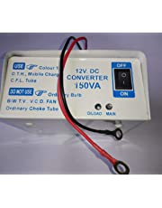 Rashri 12v DC to AC Converter for SMPS, Colour TV, DVD, DTH, CFL, Mobile Charger with Double Socket