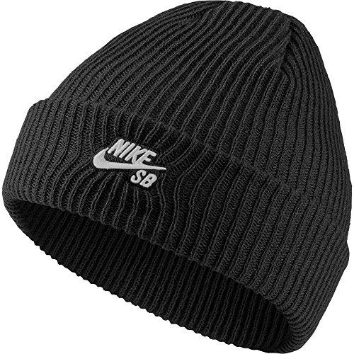 Nike SB Fisherman Beanie - Mütze, unisex, Unisex - Erwachsene, Schwarz / Weiß (Schwarz / Weiß), MISC