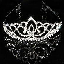 Lavendei Mariage Tiare, Nuptiale Couronne Tiara Avec Cristaux Strass Pour Le Mariage, Proms, Pageants, Princesse Parties, Anniversaire