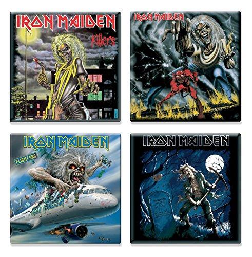 Iron Maiden 4 x Kühlschrankmagnet Albums flight 666 various designs Nue set