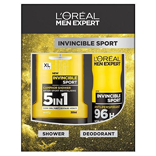 L´Oreal Men Expert Geschenk-Set Invincible Sport, mit Duschgel 300ml & Deospray 150ml