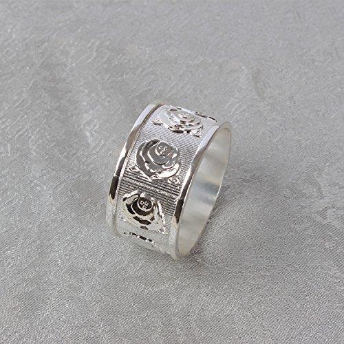 YMJ Alberghi roses anello assorbente igienico l'anello di matrimonio anello in lega (Anello Fiore Crystal Rose)