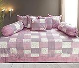 #5: Hargunz Diwan-e-khas Cotton 8 Piece Diwan Set - Pink (dwn-check-125-pink)