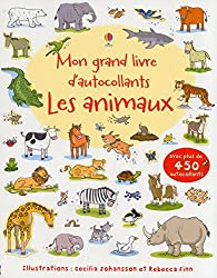 Mon grand livre d'autocollants - Les animaux