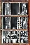 Monocrome, Dubai Burj al Arab Fenster im 3D-Look, Wand- oder Türaufkleber Format: 92x62cm, Wandsticker, Wandtattoo, Wanddekoration