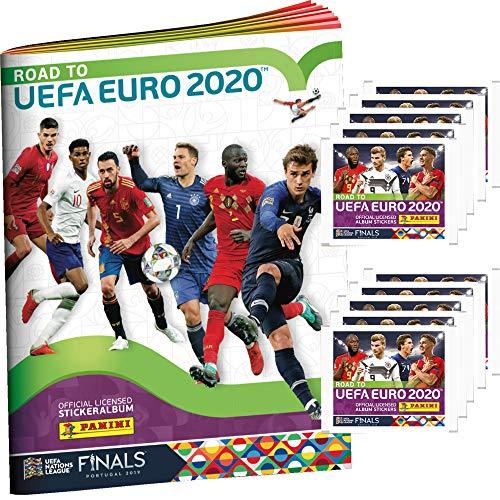 Unbekannt Panini - Road to UEFA Euro 2020 - Sammelsticker - 1 Album + 10 Tüten
