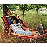 Bewehrungsstäbe mit Hängematte Single Double dicke Leinwand Hängematte Outdoor-Camping-Indoor-Freizeit Schaukel