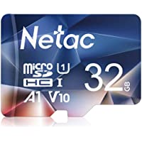 Netac 32GB Micro SD Card, MicroSDHC Memory Card UHS-I, 90/10MB/s(R/W), 600X, C10, U1, A1, V10, Full HD, TF Card for Camera, Smartphone, Security System, Drone, Dash Cam, Gopro, Tablet, DSLRs