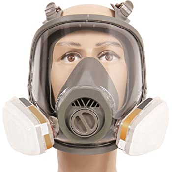 2019 Latest Design For 6800 Gas Mask Sjl Full Facepiece Respirator 7 Pcs Suit Painting Spraying With 5n11 Filters 6001cn Organic Vapor Cartridge Event & Party