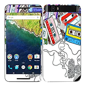 Theskinmantra Casette Uncovered Huawei Nexus 6P mobile skin