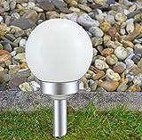 Kugel Solarlampe 15cm Gartenlampe Außenlampe Solarleuchte Beleuchtung Gartenleuchte Smartweb