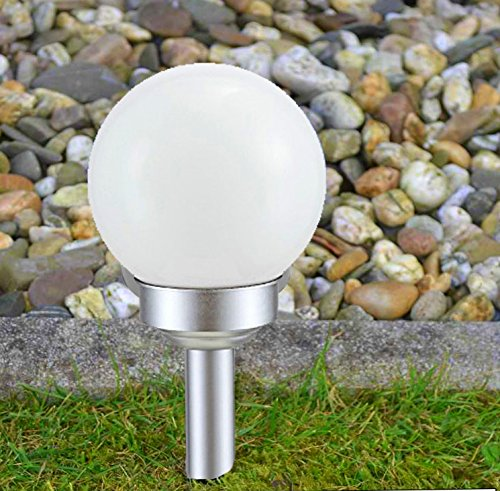 Outdoor Lights solarleuchte Kugel, Glas, silber, 20 x 20 x 43 cm