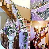 Blesiya Hochzeit Organza Dekostoff - Weiß