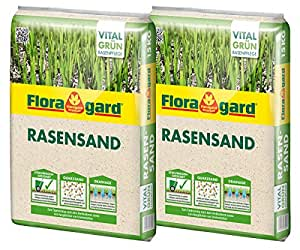 floragard rasen sand 2x15 kg f r 20 m rasenpflege zum l ften schwerer b den. Black Bedroom Furniture Sets. Home Design Ideas