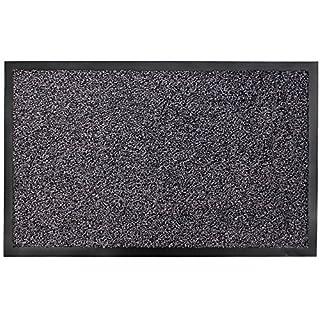 JVL Admiral Barrier Door Mat, Microfibre, Charcoal, 60 x 90 cm