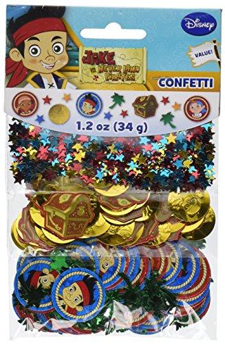 designware Amscan Ami 361288Jake und die Nimmerland Piraten Konfetti Pack für Party (Kids Taschen Jake)