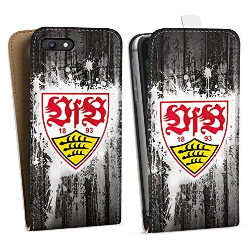Apple iPhone 8 Silikon Hülle Case Schutzhülle VfB Stuttgart Fanartikel Bundesliga Fußball Downflip Tasche weiß
