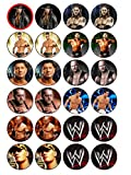 24x WWE (# 2) Essbare Cupcake Topper