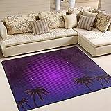 yibaihe Palmen Retro Neon Farbverlauf bedruckt Gro?e Fl?che Teppiche, leicht rutschfeste antistatisch Boden Teppich f¨¹r Wohnzimmer Schlafzimmer Home Deck Terrasse, 160?x 122?cm