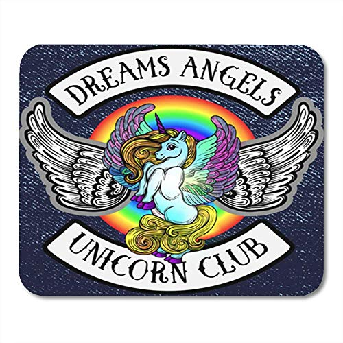 Gaming Mauspads, Mouse Pad Sticker Pony Unicorn with Wings Emblem of The Children's Bike Club Creative 11.8