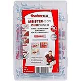 Fischer MEISTER-BOX DUOPOWER + schroef, gereedschapskist met 160 pluggen en schroeven, universele pluggen, praktische set, pl