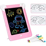 Febelle Tableta de Escritura LCD para niños,Juguete de Tablero Tablero de Escritura de 10 Pulgadas|3D LED Luminoso Magic Draw