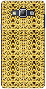 The Racoon Lean printed designer hard back mobile phone case cover for Samsung Galaxy A7. (Yellow Min)