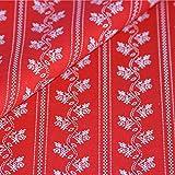 Trachtenstoff rot weißes Blumen Muster floral Baumwolle