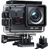 Victure Nueva Versión 4K/50FPS Cámara Deportiva Wi-Fi 4K Ultra HD 20MP con Control Remoto y Pantalla Táctil (Action Camera Ac