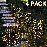 Lampe Solaire Exterieure Jardin au Sol Etanche IP65, Vegena 4 pcs Lampe Jardin Sans...