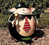 Lustiger Schweine Eimer, Abfall Treteimer für den Garten, Grilleimer