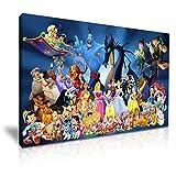 Disney Zeichen Leinwand Kunstdruck Bild Dekoration 76x 50cm