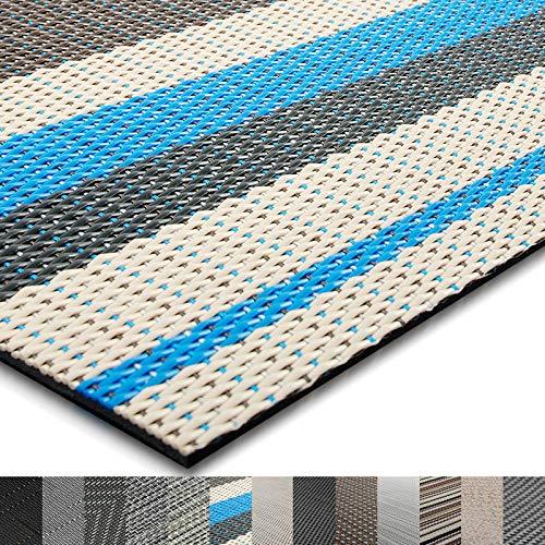 casa pura® Indoor- und Outdoor-Bodenbelag Ravenna | kunstvoll gewebt | als Teppich oder Läufer | 40 Größen (180x400cm) -
