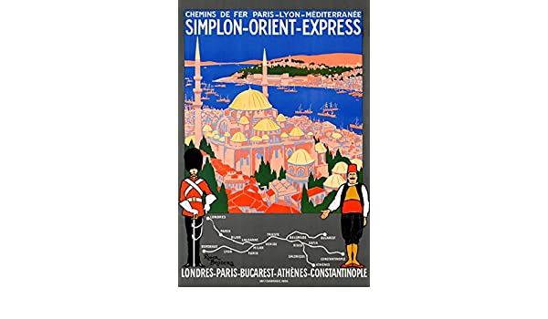 1921 Orient Express london to Istanbul Constantinople Railway Poster A3 Print