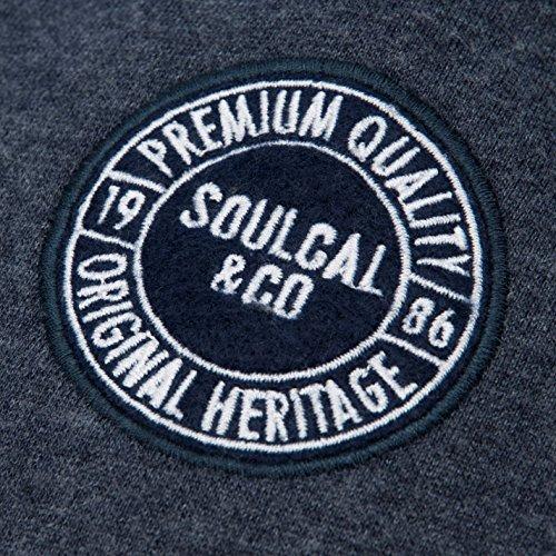 Soulcal Uomo Pantaloni da Jogging In Pile Indigo Marl
