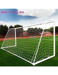 Football Goal Net, Fußball Goal Net Outdoor Fußball Training mit einstellbarer Höhe und Breite, Meetyours Polypropylen Fußballnetz für Kinder Kinder Teenager (nur Netze)